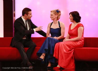 Festliche Abendkleider von Modedesignerin Ilka Fiedler bei Fernsehgala